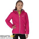 【REGATTA 英國 兒童 佛坎尼超反光防水透氣外套《紅》】RKW196/彈性/內刷毛/夾克