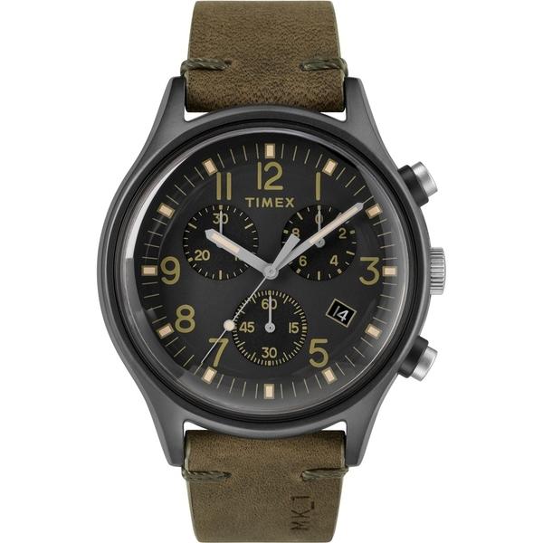 【TIMEX】天美時 MK1 Chrono系列 三眼計時潮流軍錶(黑/橄欖綠 TXTW2R96600)