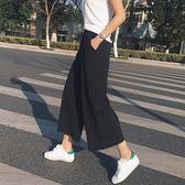 時尚氣質高腰闊腿褲潮百搭學院風純色西裝褲夏季新款寬鬆休閒褲女