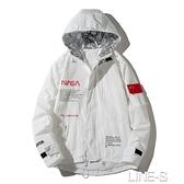 NASA宇航員聯名外套秋冬加厚連帽飛行員夾克潮流棒球服男女情侶裝