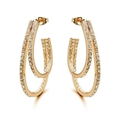 耳環 玫瑰金 925純銀鑲鑽-精緻華麗情人節生日禮物女飾品2款73gs7【時尚巴黎】