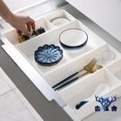 抽屜分隔整理盒桌面加厚儲物盒廚房塑料收納盒【古怪舍】