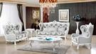 【大熊傢俱】A23C 玫瑰系列歐式 休閒沙發 多件沙發組  美式皮沙發絨布沙發歐式沙發