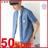 男生 工作襯衫 短袖上衣 SMITH聯名 日本品牌【coen】
