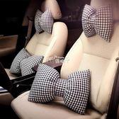 汽車頭枕可愛蝴蝶結護頸枕女 卡通靠枕車用枕頭 車載飾品 俏腳丫
