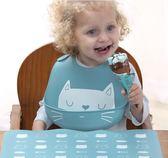 寶寶口水巾 硅膠嬰兒寶寶吃飯圍兜飯兜防水兒童圍嘴大號小孩口水兜免洗食飯兜 萌萌小寵