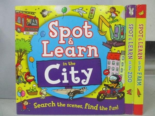 【書寶二手書T4/少年童書_FQL】Spot & Learn in the City_Spot&Learn at the Zoo等_共3本合售