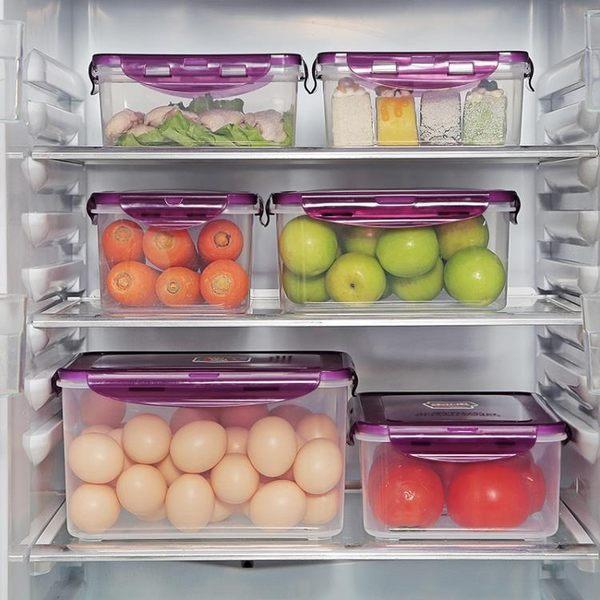 廚房冰箱保鮮盒塑料飯盒水果保鮮盒四件套微波密封盒食品收納盒 智聯igo