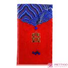 O'Pretty 歐沛媞 緞面紅包袋/禮金袋-直式囍字祥瑞藍(10.5X17cm)【美麗購】