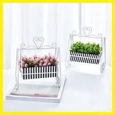聖誕節狂歡 創意仿真植物小盆景假花盆栽家居客廳室內綠植桌面裝飾花套裝擺件 森活雜貨