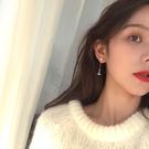 人魚姬魚尾锆石流蘇耳環女簡約百搭一款兩戴珍珠耳釘耳夾E487
