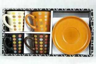 點彩咖啡杯四件套