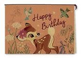 【金玉堂文具】迪士尼萬用卡片-橫式/小鹿斑比 牛皮卡片 小鳥 生日卡片 祝賀卡