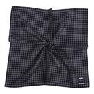 renoma經典格紋男士純綿帕巾(深藍色)989063-249