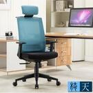 [客尊屋-椅天]Passion高背半網人體工學電腦椅-三色可選-藍色