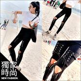 克妹Ke-Mei【AT45874】重推!歐美重龐克時尚釘釦馬甲綁帶彈力緊身牛仔褲