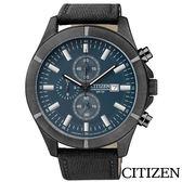CITIZEN星辰 極限強悍三眼計時石英腕錶 AN3525-01L