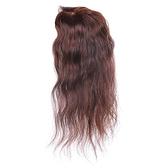 假髮片(真髮絲)-35cm捲髮補髮塊透氣女假髮2色73us18【時尚巴黎】