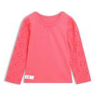 Gap 女幼 休閒長袖T恤 497464-橙粉色