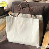 購物袋日韓風原創小清新簡約加厚帆布環保購物袋超市大拎袋肩背手提