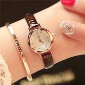 手錶 復古休閒手錶韓版簡約細帶小巧紅色女學生閨蜜迷你小錶盤石英錶 小宅女大購物