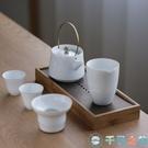原竹雙層簡約茶盤家用復古蓄水小茶臺【千尋之旅】