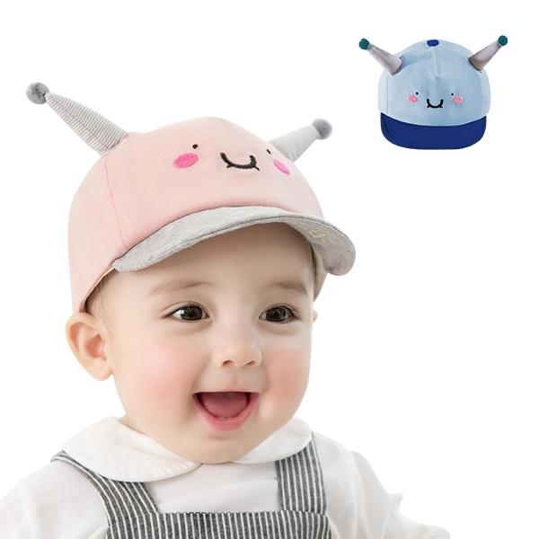 童帽 棒球帽 鴨舌帽 小怪獸遮陽帽 外星人帽子 笑臉帽-JoyBaby