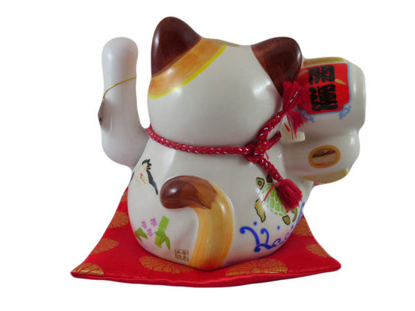【日本貓樂堂批發中心】日本原創 陶瓷/ 開運電動招手貓 招財貓 搖手貓 擺手貓 192
