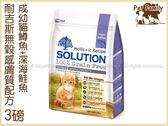 寵物家族*-耐吉斯敏感膚質無穀配方成幼貓鱒魚+深海鮭魚口味3LB