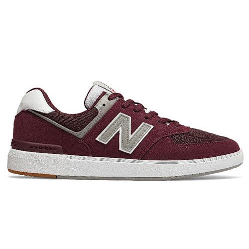 New Balance 574 男鞋 女鞋 休閒 復古 麂皮 輕量 酒紅【運動世界】AM574MRR