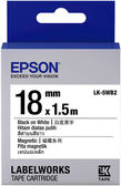 LK-5WB2 EPSON 磁鐵系列白底黑字標籤帶(寬度18mm) C53S655418