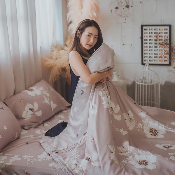 天絲床組 乾燥花 S1單人薄床包兩件組 台灣製(40支) 100%天絲 棉床本舖