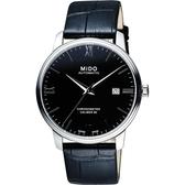 MIDO美度 永恆系列80小時天文台認證矽游絲機械錶-黑x銀/40mm M0274081605800