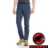【MAMMUT 長毛象】男 SOFtech 男機能快乾軟殼 長褲 5118『海洋藍』1020-09760登山 露營 運動褲
