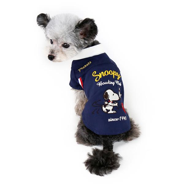 【PET PARADISE 寵物精品】SNOOPY 保齡球夏日襯衫/藍 (3S) 寵物用品 寵物衣服《SALE》