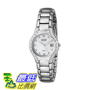 [104美國直購] 手錶  Citizen Women s EW0970-51B Silhouette Diamond Eco Drive Watch in Silver Tone$13587