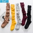 及膝襪學生襪子女中筒襪半截襪小腿襪長筒襪學院風日系堆堆襪