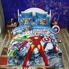 標準雙人床包組 復仇者聯盟 迪士尼床包 卡通床包 藍色 marvel 小朋友床組 Disney授權 佛你企業