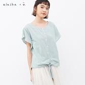 a la sha+a 氣質綁帶條紋上衣