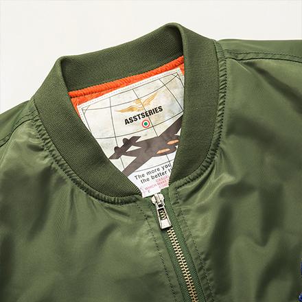 Free Shop 送T恤 美國太空總署NASA刺繡貼章MA-1飛行外套 有大尺碼 軍綠色黑色空軍藍色【QTJYZ8805】