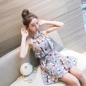 泳衣女連體裙式保守遮肚顯瘦2018新款韓國學生溫泉性感小清新泳裝