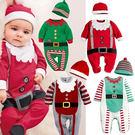 長袖連身衣 聖誕小精靈(含帽子) 包屁衣 W61071