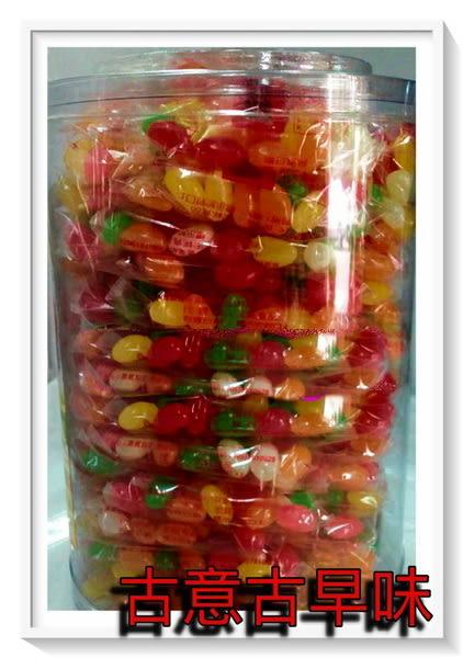 彎豆糖(60入/罐) 古早味 懷舊零食 童玩 糖果 雷根糖 賓司 QQ軟糖 豆豆糖