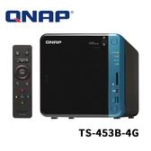 QNAP 威聯通 TS-453B-4G 4Bay 4G RAM NAS 網路儲存伺服器 (附遙控器)