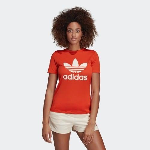 ADIDAS ORIGINALS mesh 女裝 短袖 休閒 慢跑 透氣 基本款 橘紅【運動世界】DU9859
