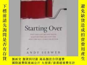 二手書博民逛書店英文原版罕見Starting Over by Andy Serw