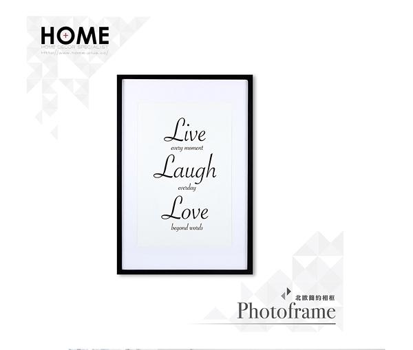 【南紡購物中心】草寫 Live Laugh Love 相框裝飾畫 63x43cm