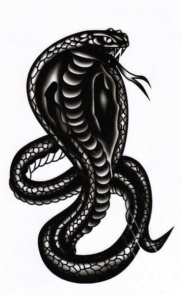 薇嘉雅   響尾蛇     超炫圖案紋身貼紙 HM318