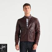 真皮皮衣【GIPSY】COPPER條紋肩飾皮衣