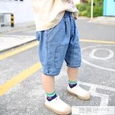 男童短褲夏薄款小童洋氣牛仔褲寶寶休閒寬鬆兒童中褲男孩七分褲潮 夏季新品